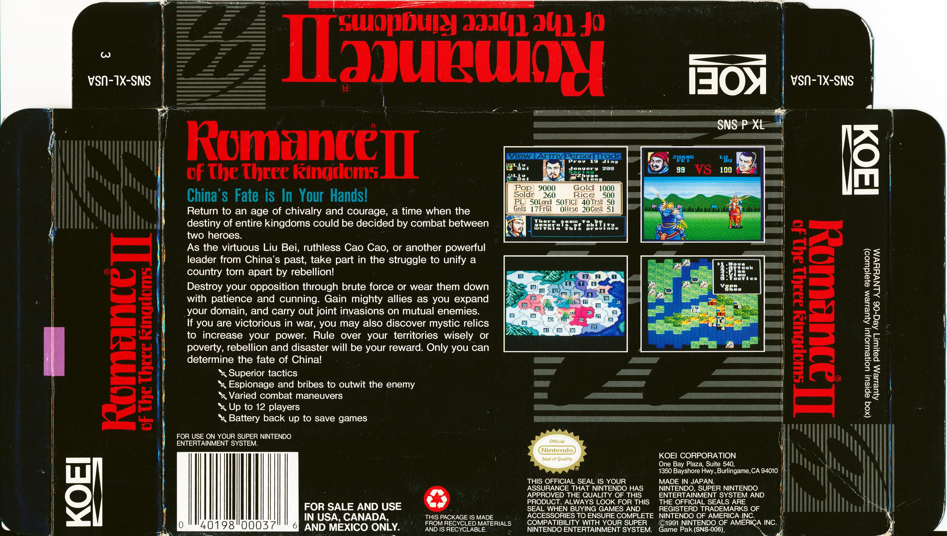 Romance of the Three Kingdoms II (Super Sangokushi II) – Gaming